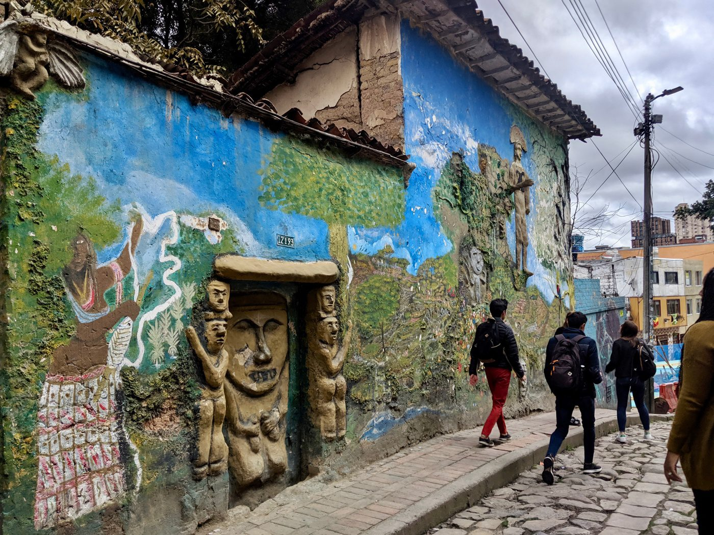 Murals in the La Candelaria, Colombia neighborhood