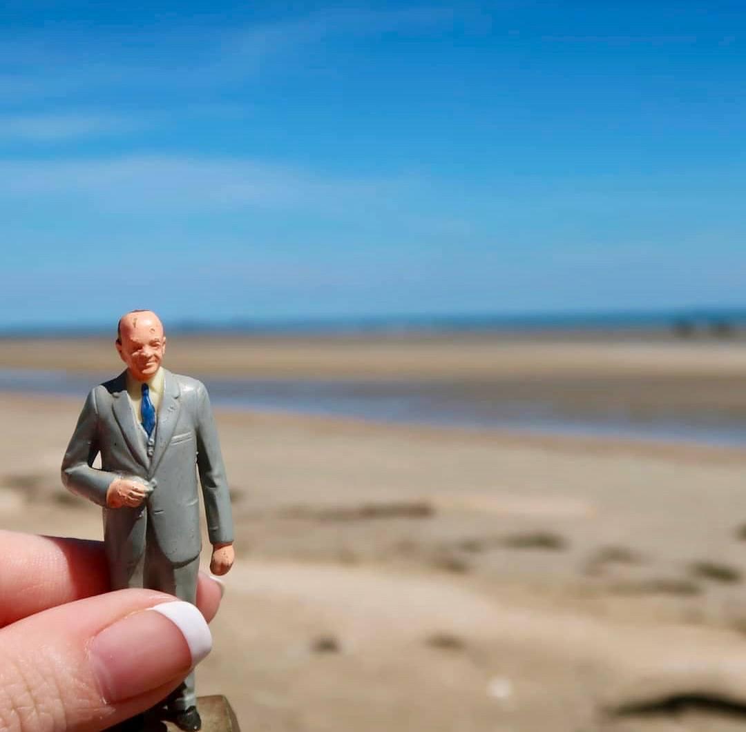 Eisenhower on Omaha Beach.