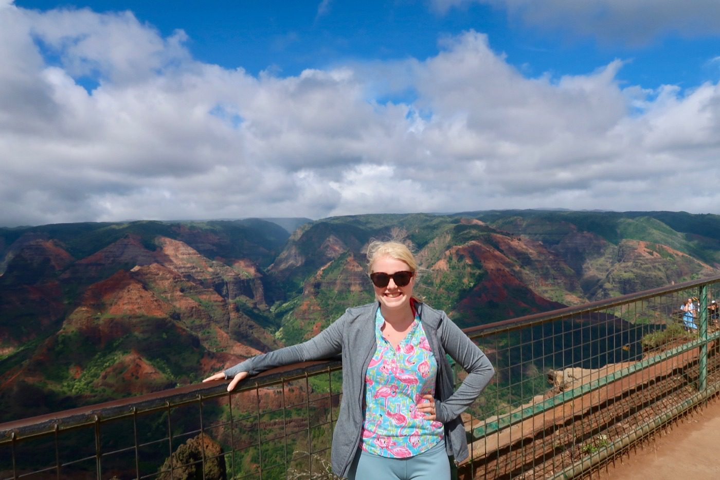 At the Grand Canyon of the Pacific in Kauai, HI.