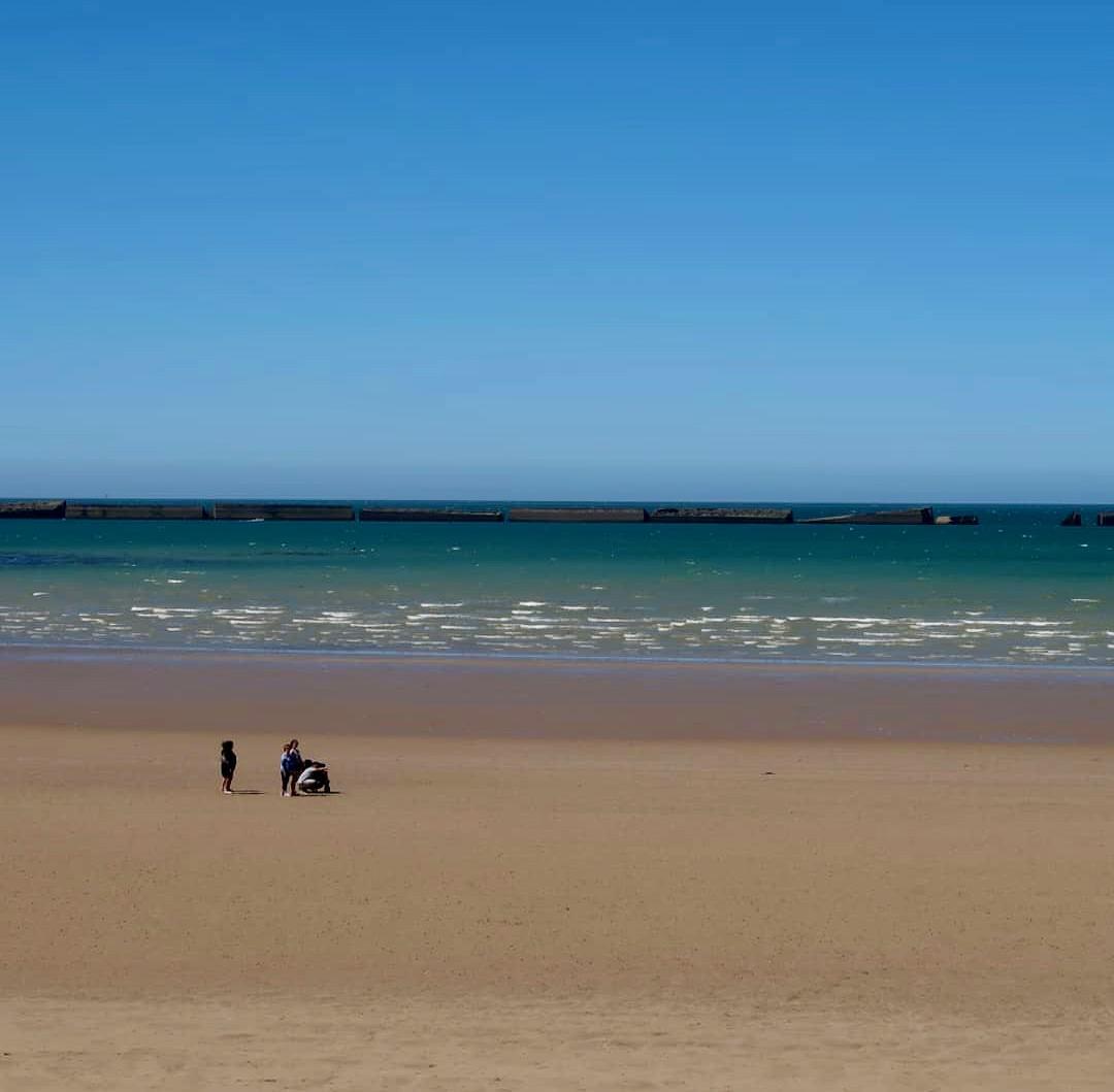 Omaha Beach: Normandy, France.