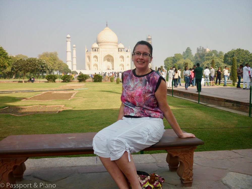 Fiona at the Taj Mahal in India!