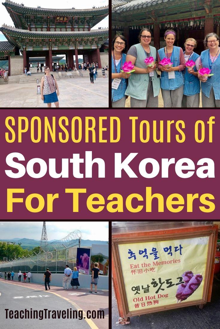 Sponsored travel to South Korea for Teachers