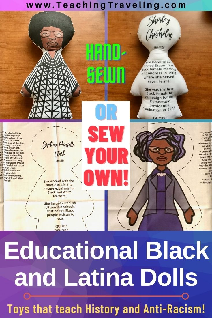 Educational Latina and Black dolls that teach history
