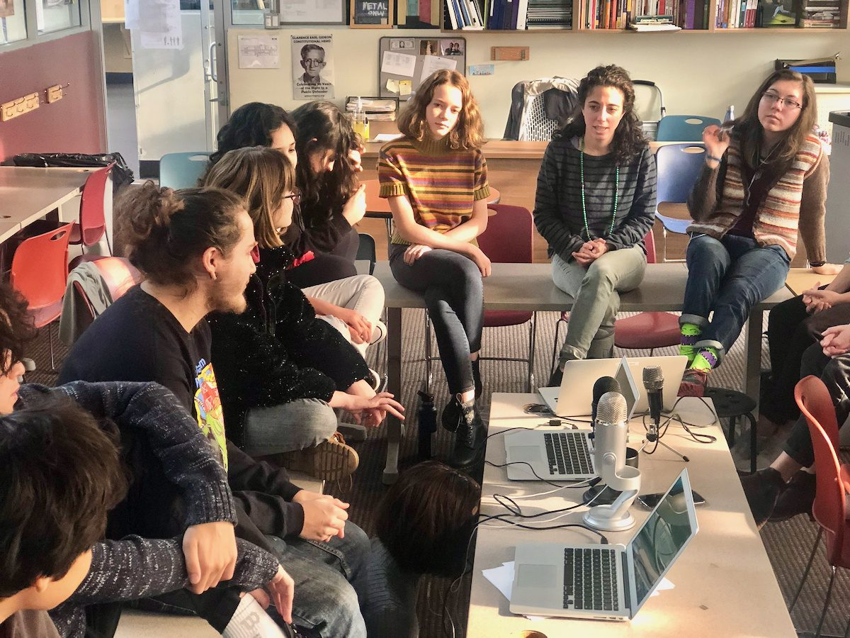 Leading teen discussion groups.