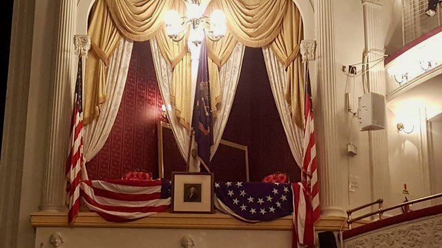 President Lincoln's Box at Ford's Theater In Washington DC.